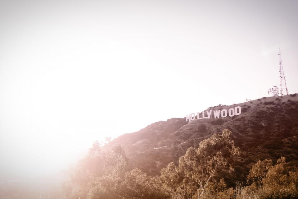 hollywood, california, usa, united states, sign, trees, hills, lookout