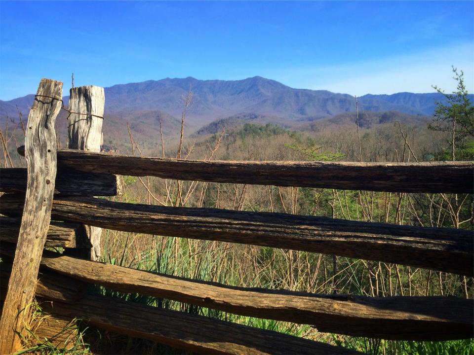 fence, rural, countryside, fields, mountains, blue, sky, sunshine, sunny