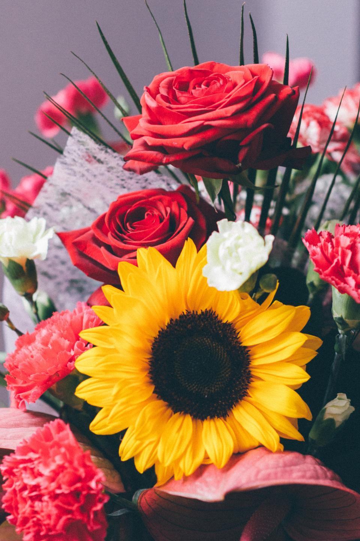 bouquet, flowers, roses