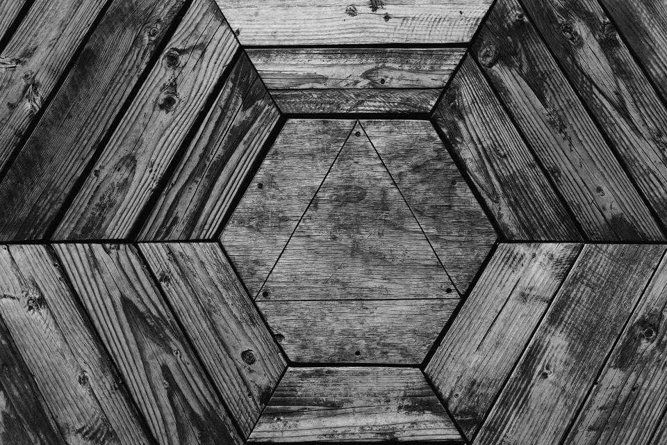 wood, texture, hexagon, triangle, pattern