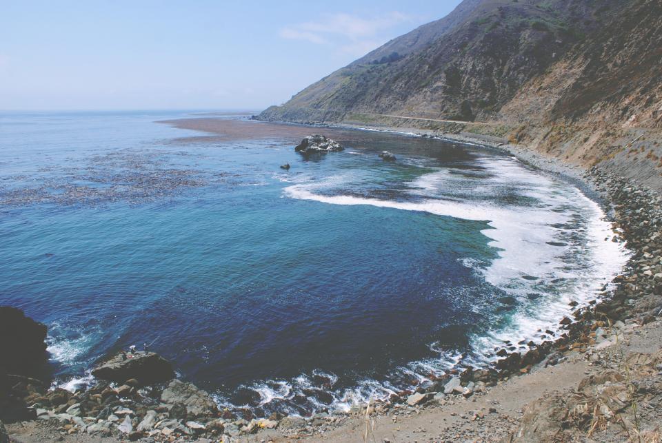 sand, rocks, water, shore, coast, ocean, sea