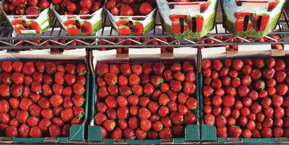 strawberry, strawberries, fruits, market, food