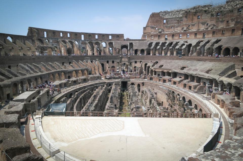 Colosseum, Rome, Italy, history, gladiators, roman, ruins, architecture