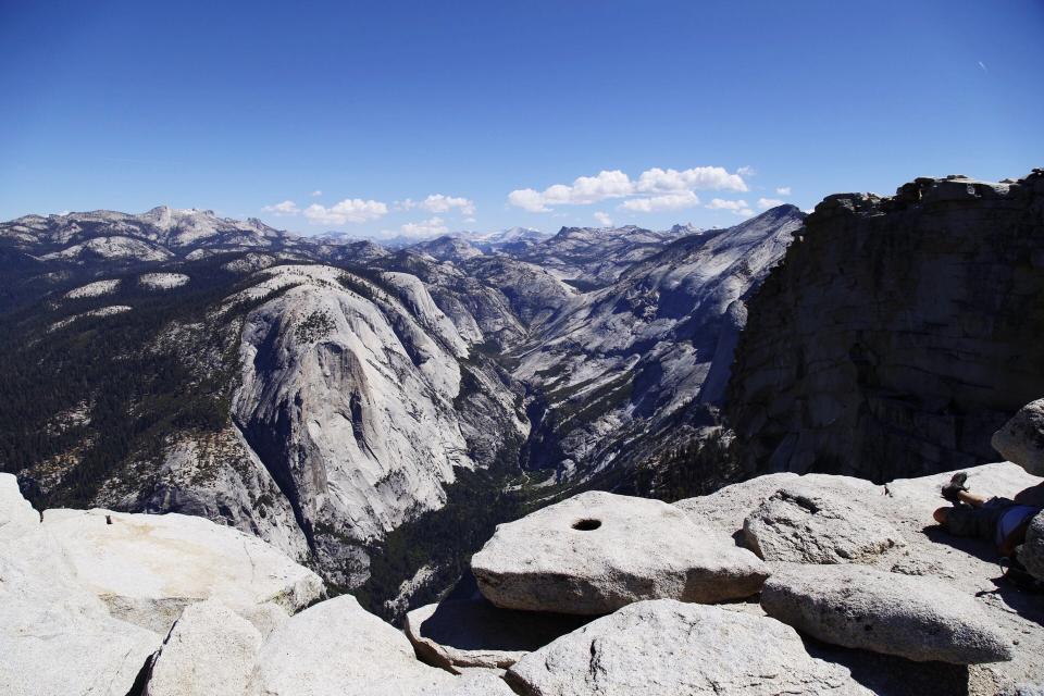 mountains, cliffs, rocks, valleys, landscape, nature, blue, sky, sunny