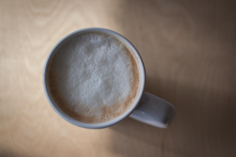 cafe, coffee, cappuccino, latte, cup, mug, froth
