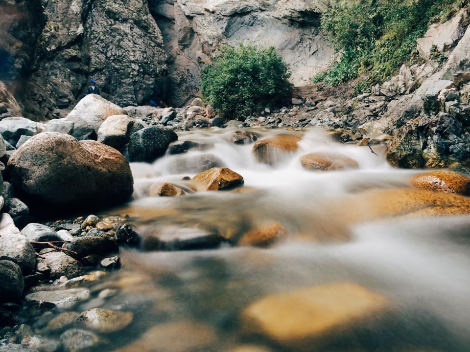 water, stream, rocks, stones, nature