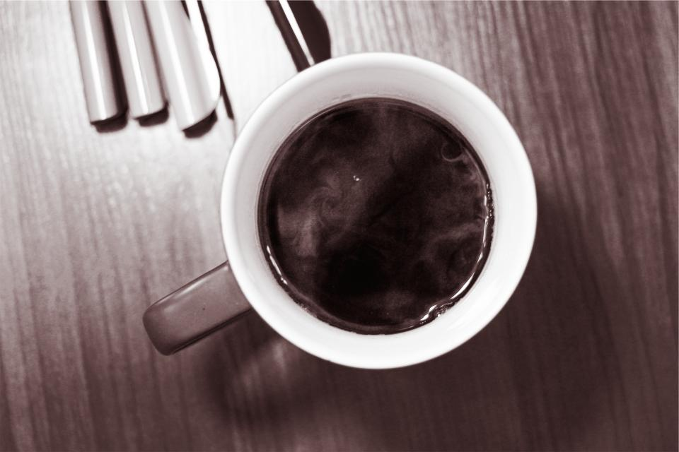 black coffee, mug, cup