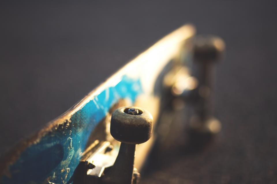 still, items, things, skateboard, skate, thrasher, wheels, floor, sideways, bokeh