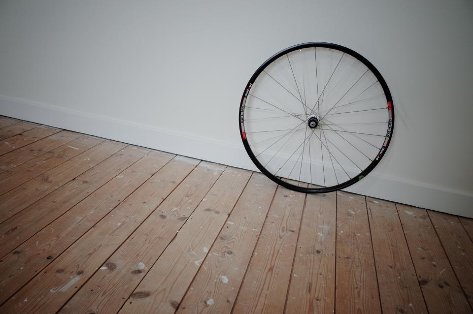 bike, bicycle, wheel, hardwood, floors