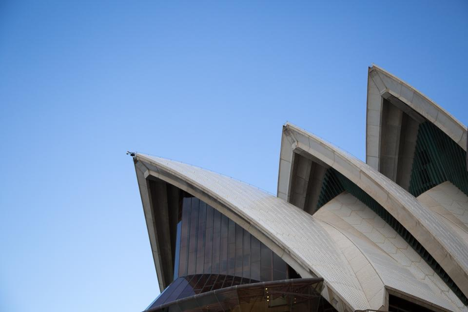 Sydney Opera House, Australia, building, architecture, roof, blue, sky
