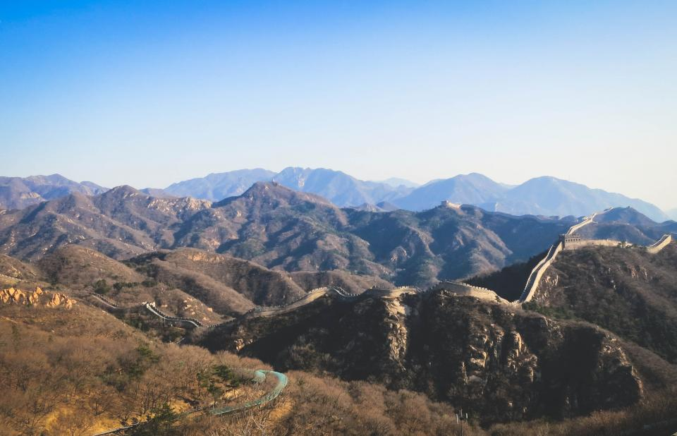Great Wall of China, mountains, hills, steps, landscape
