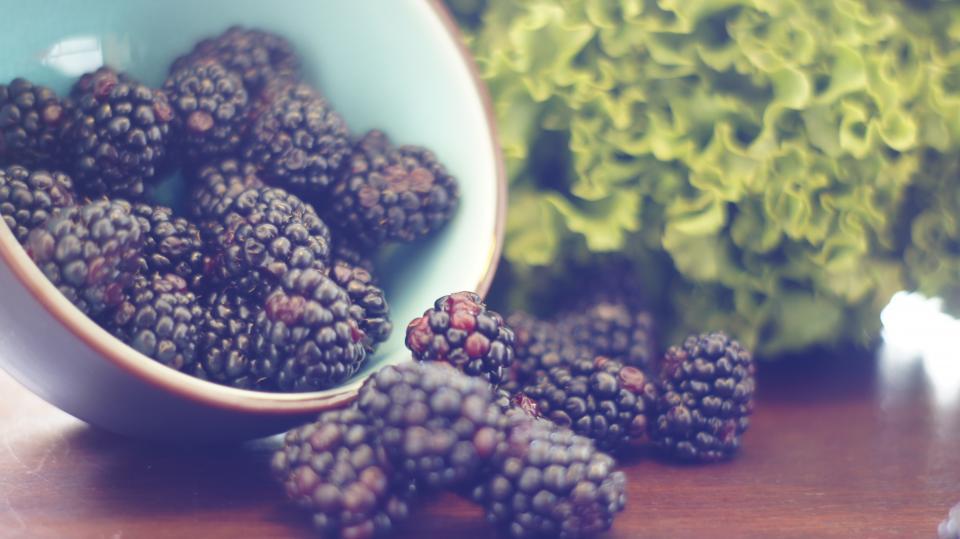 blackberries, fruits, food, healthy, green, vegetables