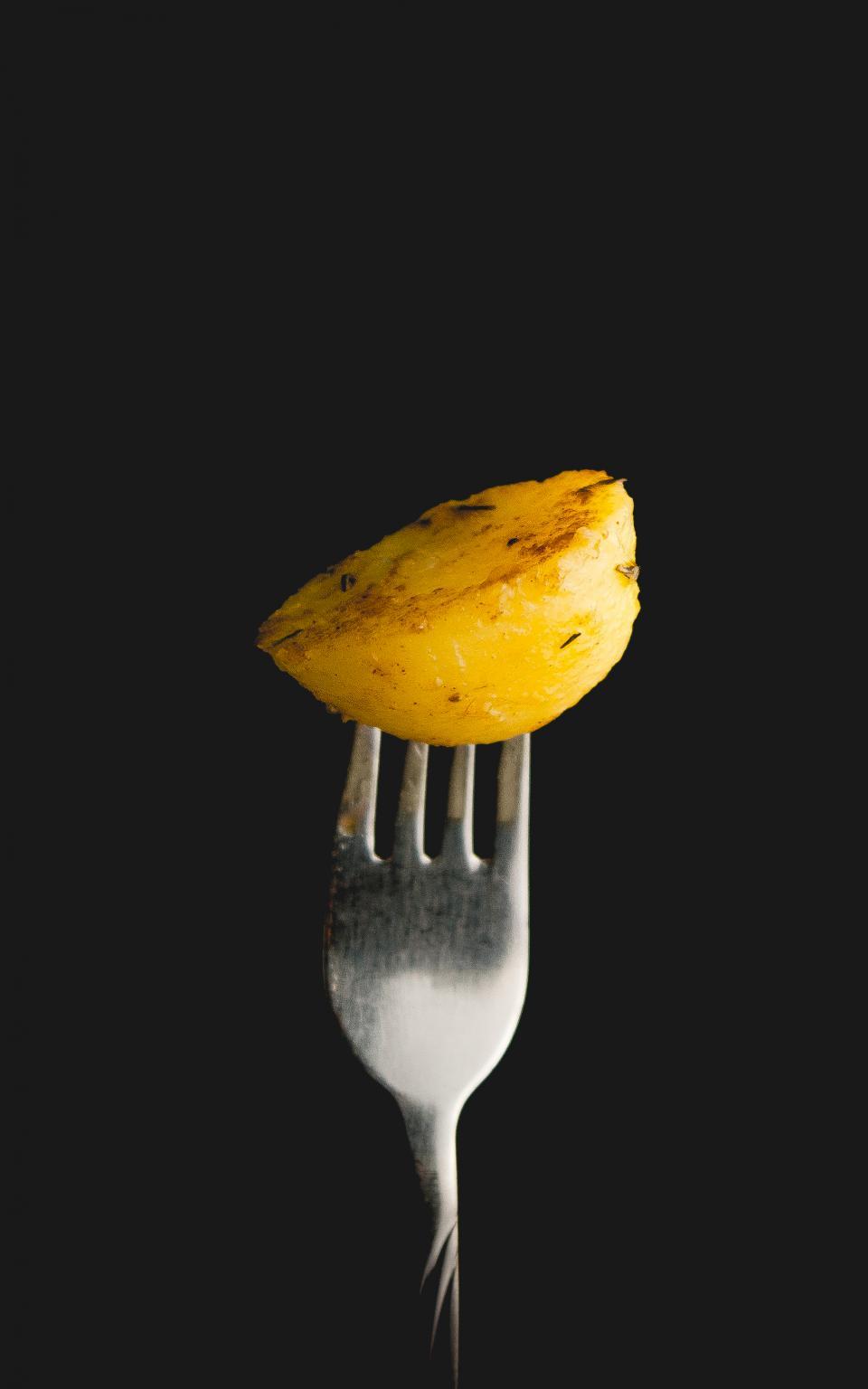 fork, potato, food