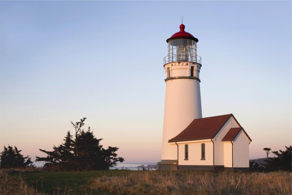 lighthouse, blue, sky