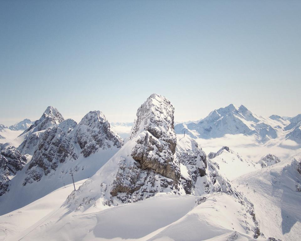 mountains, peaks, cliffs, rocks, snow, winter, cold, outdoors