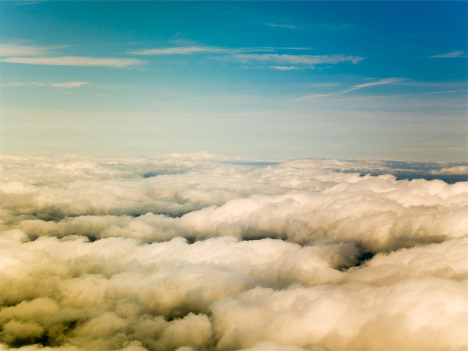 above the clouds, blue, sky, sunny