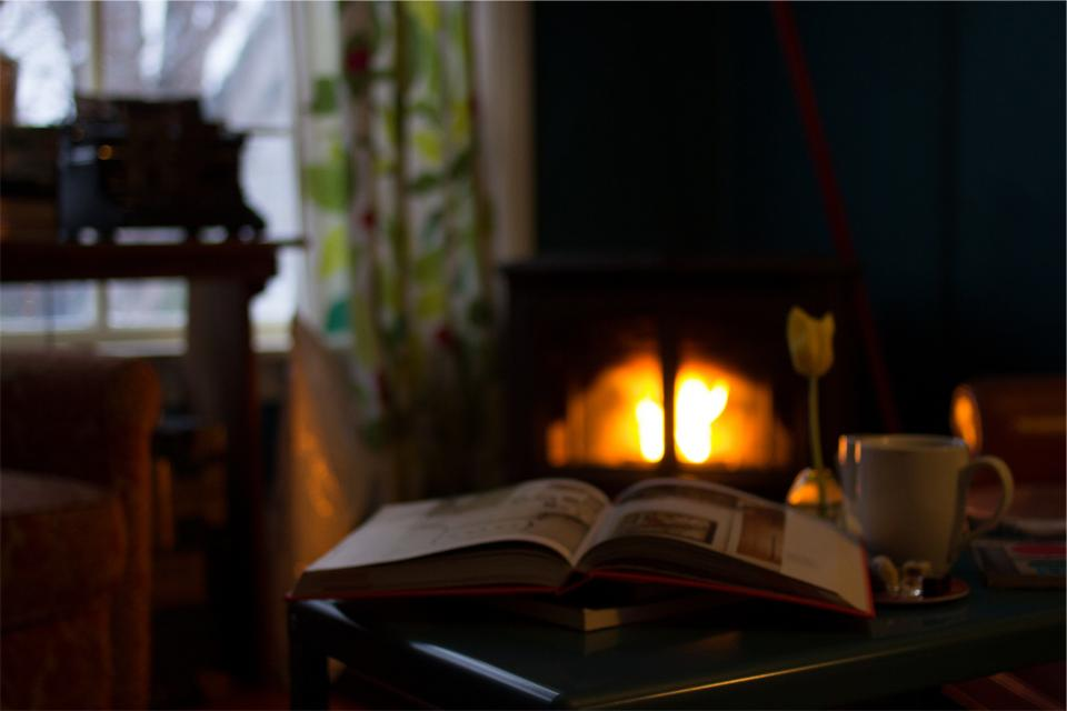 book, pages, reading, fireplace, flame