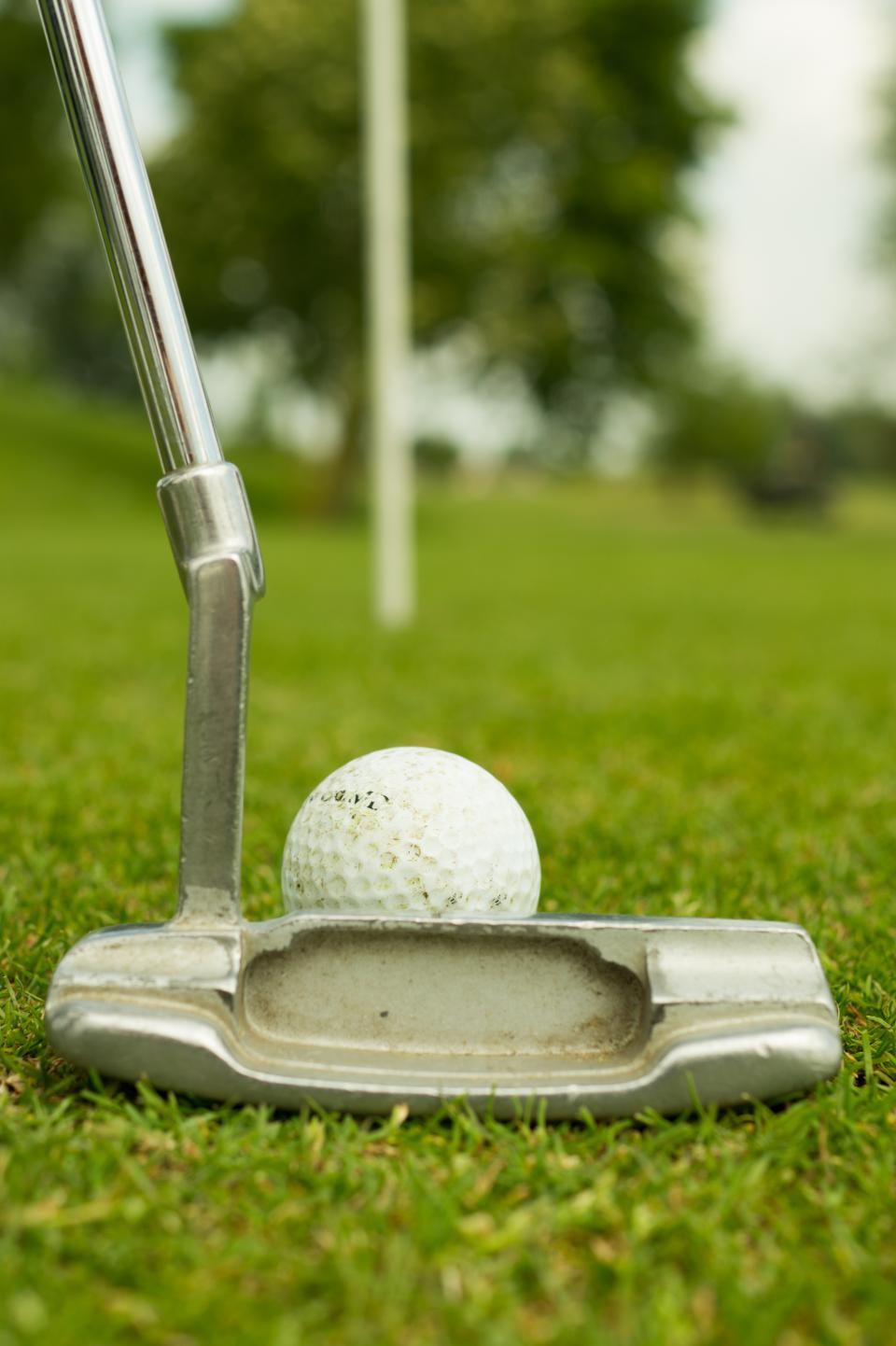 golf, ball, putter, green, sports