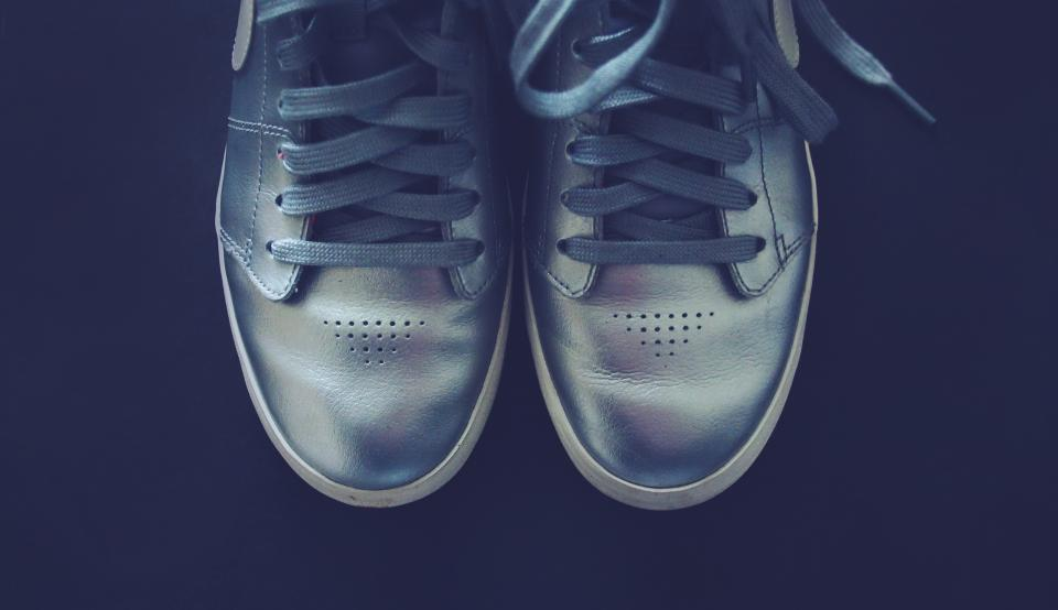 silver, shoes, sneakers, laces, fashion
