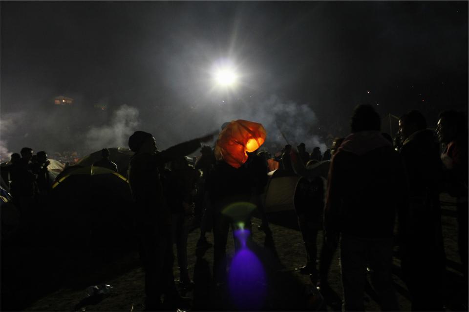 crowd, people, dark, party, night, spectators, smoke, light, evening