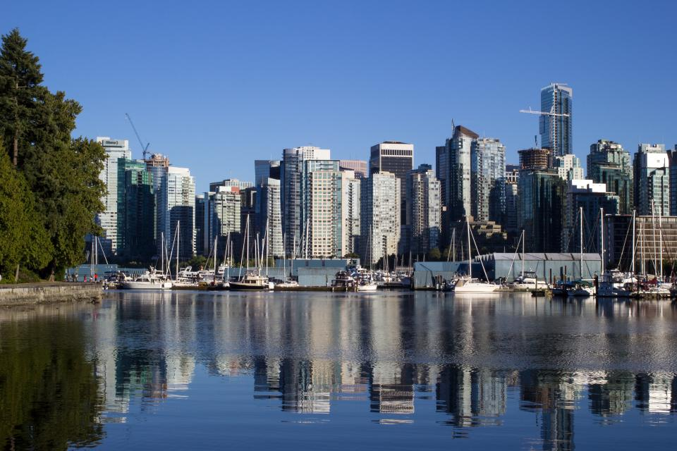 buildings, skyline, city, urban, water, port, boats, docks, towers, architecture