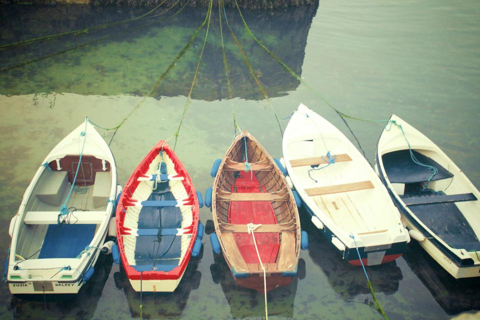 boats, ropes, lines, water, docked, harbor, harbour