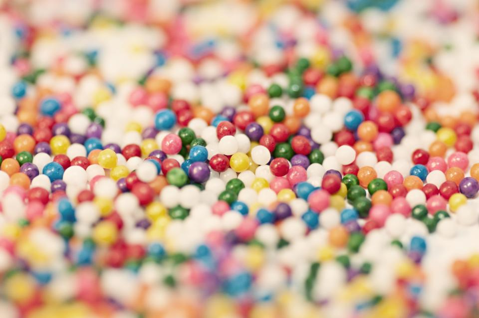 bubble gum, balls, colors, colours, candy