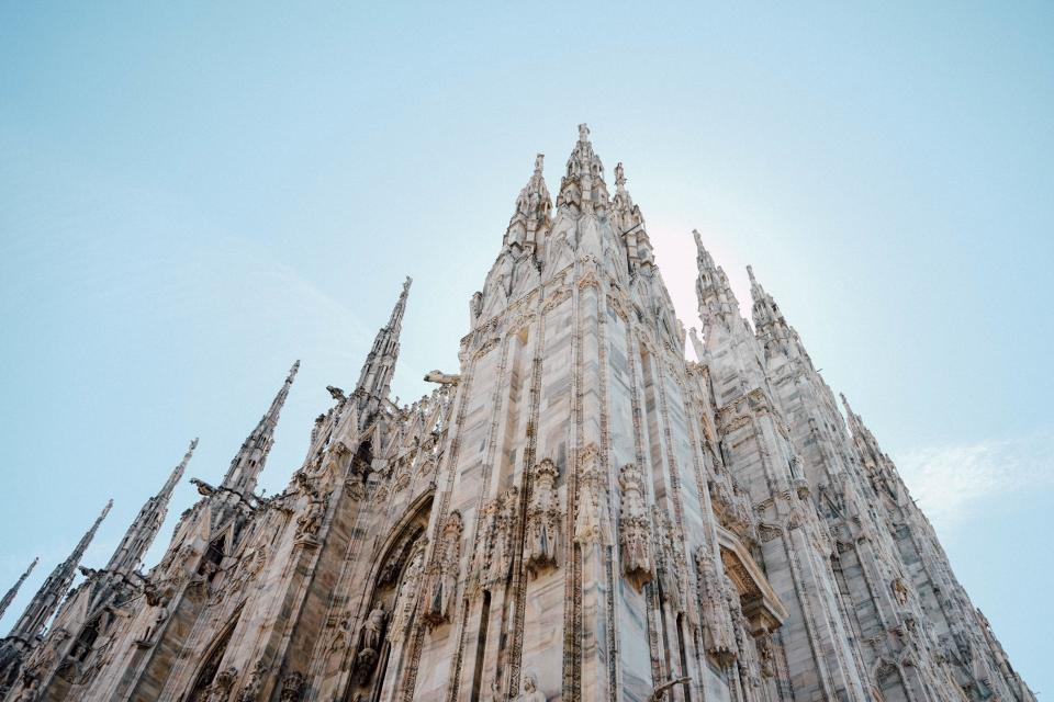 architecture, buildings, city, cathedrals, europe, italy, sky, clouds, perspective