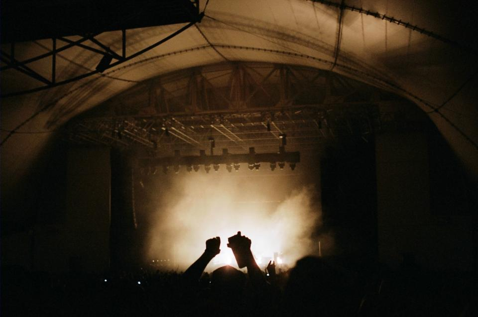 music, concert, stage, party, smoke, lights, hands, crowd, stadium