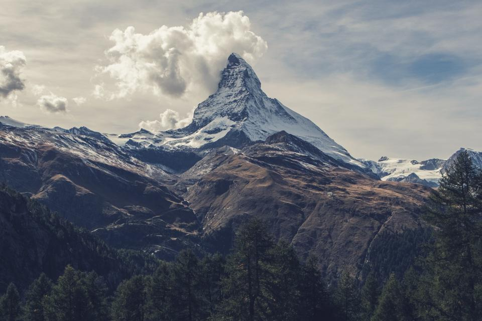 mountains, hills, peaks, summit, landscape, nature, trees, sky, clouds, outdoors, adventure