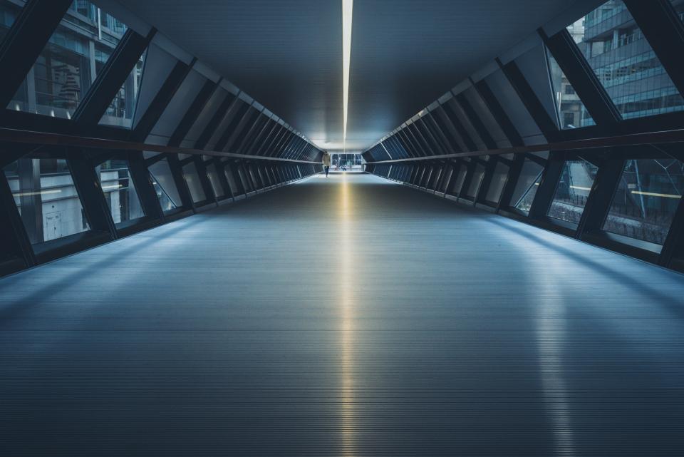 tunnel, building, architecture, windows