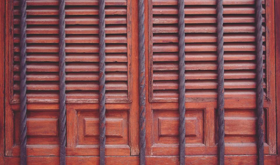 door, entrance, bars, wood