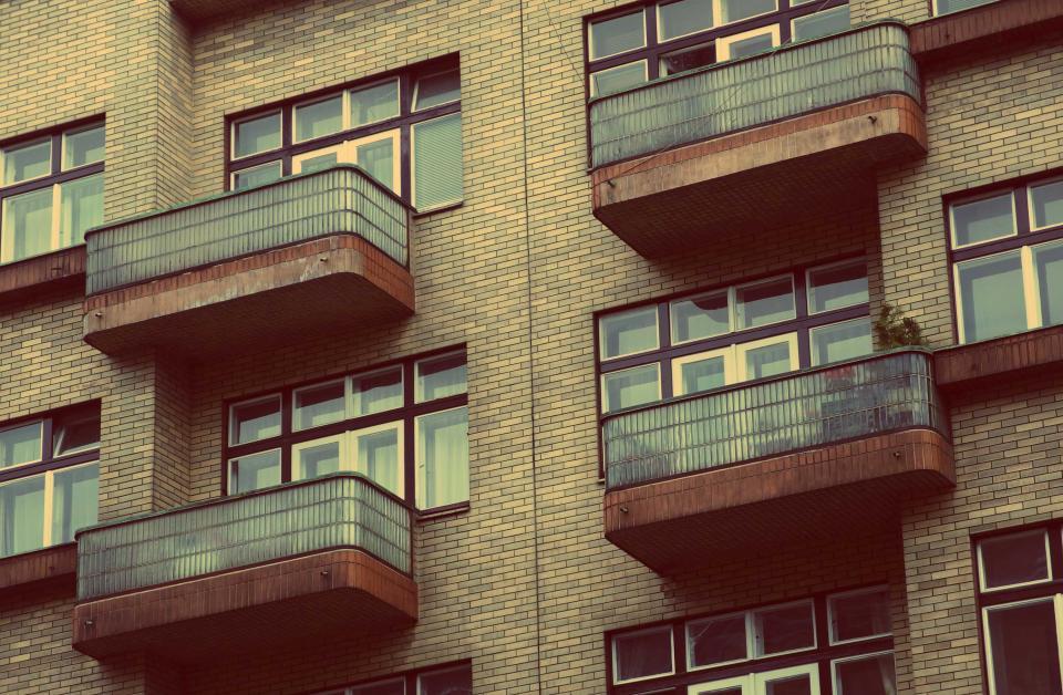 apartments, condos, flats, balconies, windows, building, city, architecture, urban