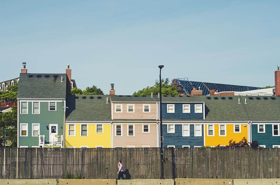 neighborhood, houses, townhouses, neighbors, subdivision, suburban, suburns, quiet town, city, boston