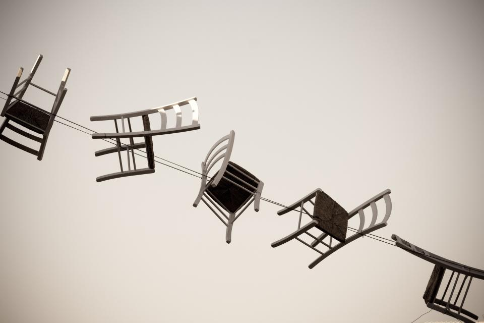 chairs, string, design, art, creative, decor