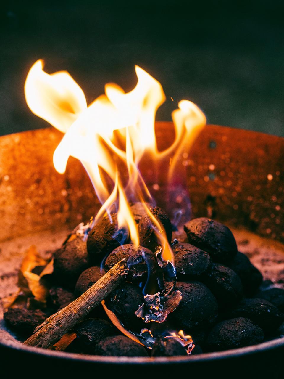 fire, flames, camping, barbecue, bbq, coals