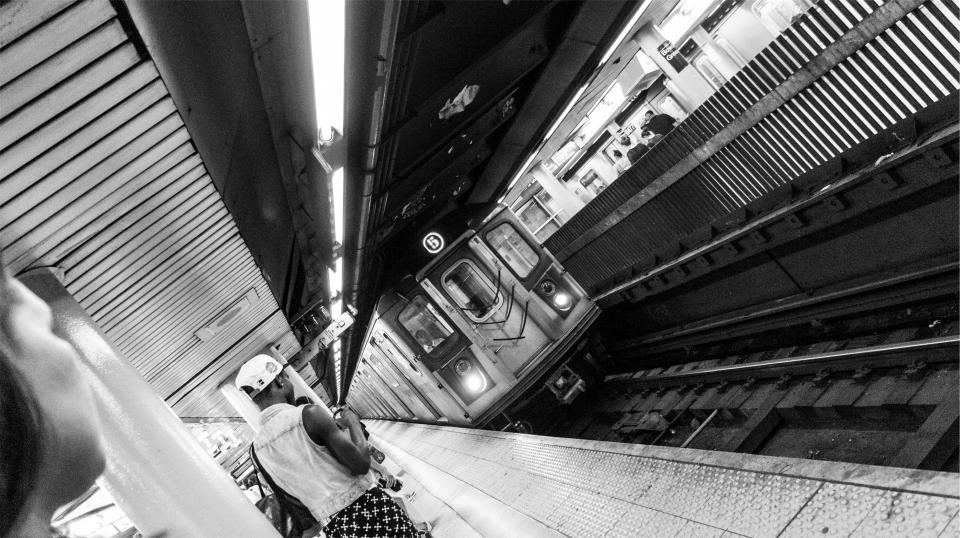 subway, station, transportation, urban, train, people