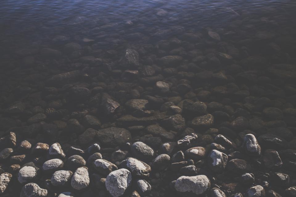 water, rocks, stones