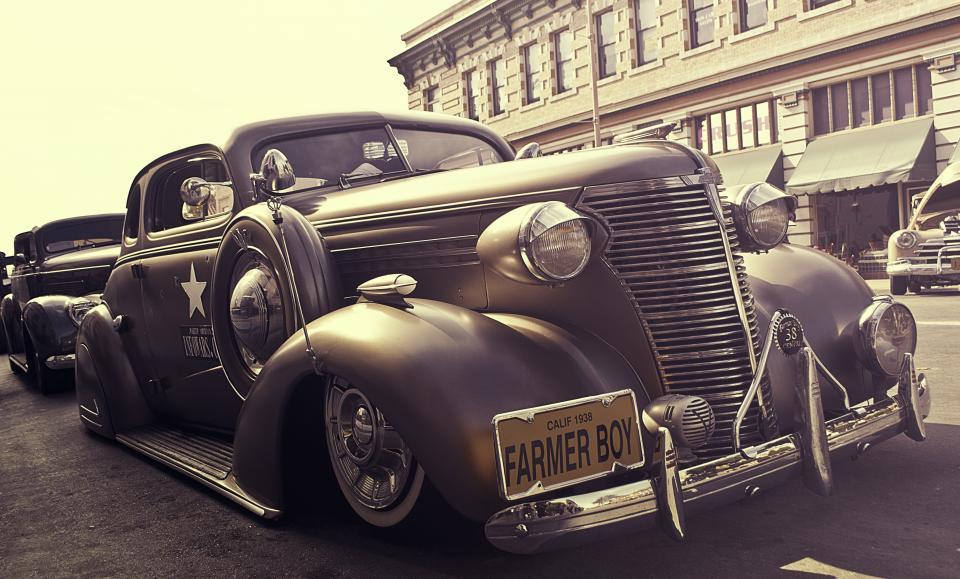 vintage, car, farmer boy, headlights, wheels, oldschool, automotive
