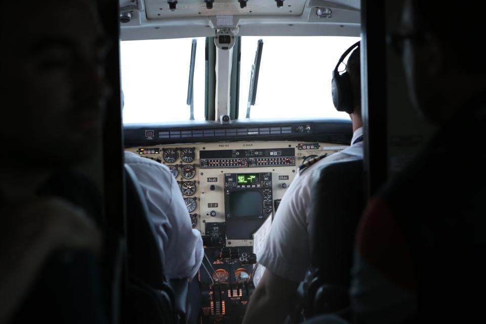 cockpit, pilot, airplane, travel, transportation, trip