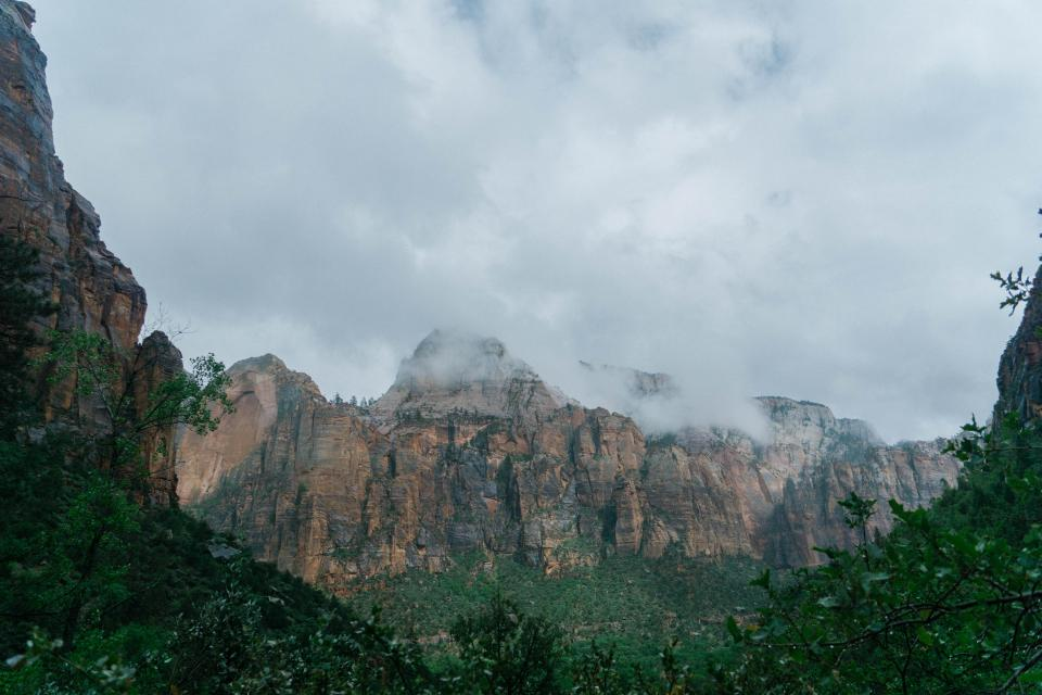 landscape, mountains, canyon, cliffs, clouds, cloudy, nature, outdoors