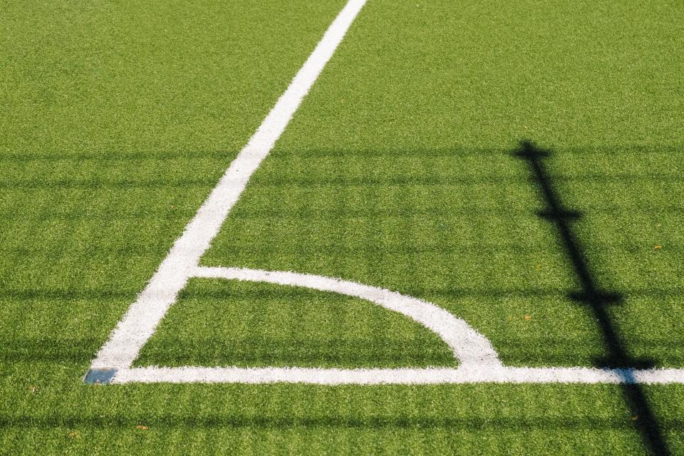 soccer, field, sports, grass, green, shadow, sunshine, summer, fitness