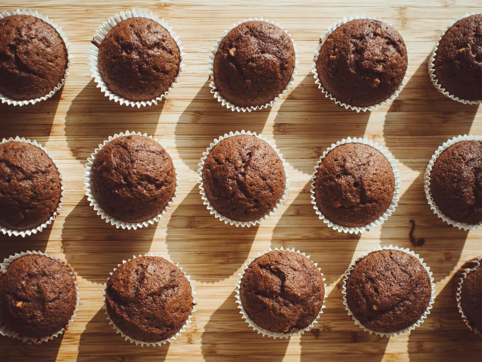 muffins, baking, food