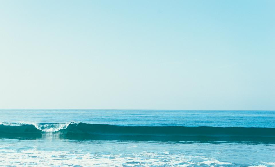 blue, ocean, sea, water, waves, sunshine, sunny, sky, summer