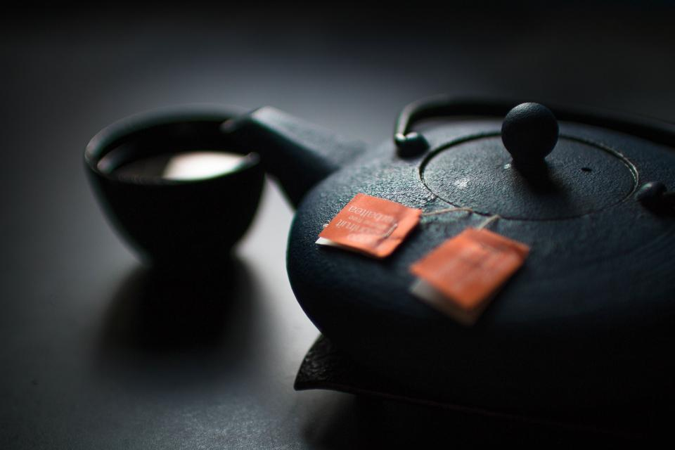 tea, pot, cup, drink