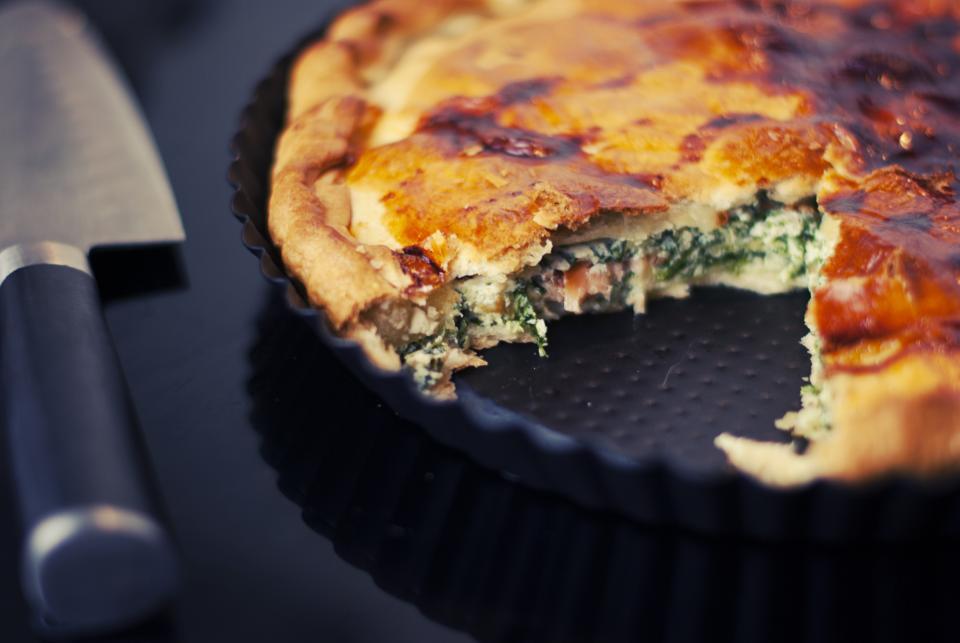tart, spinach, food, baking, lunch, dinner, kitchen