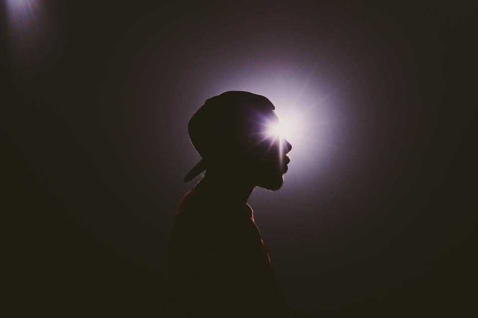 man, male, silhouette, shadow, profile, people, light, dark