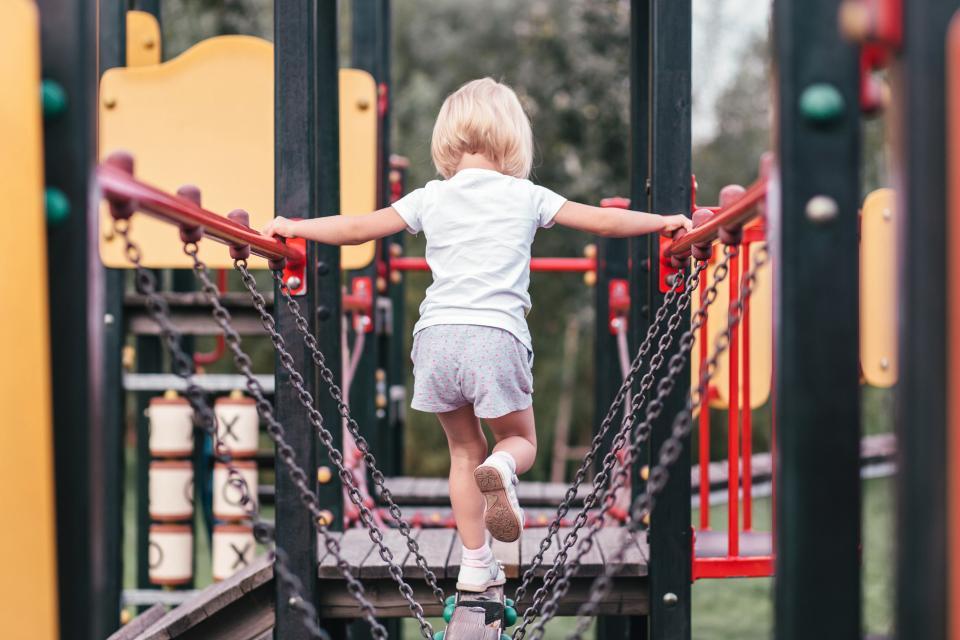 people, kid, child, baby, girl, play, adventure, park, steel, chain