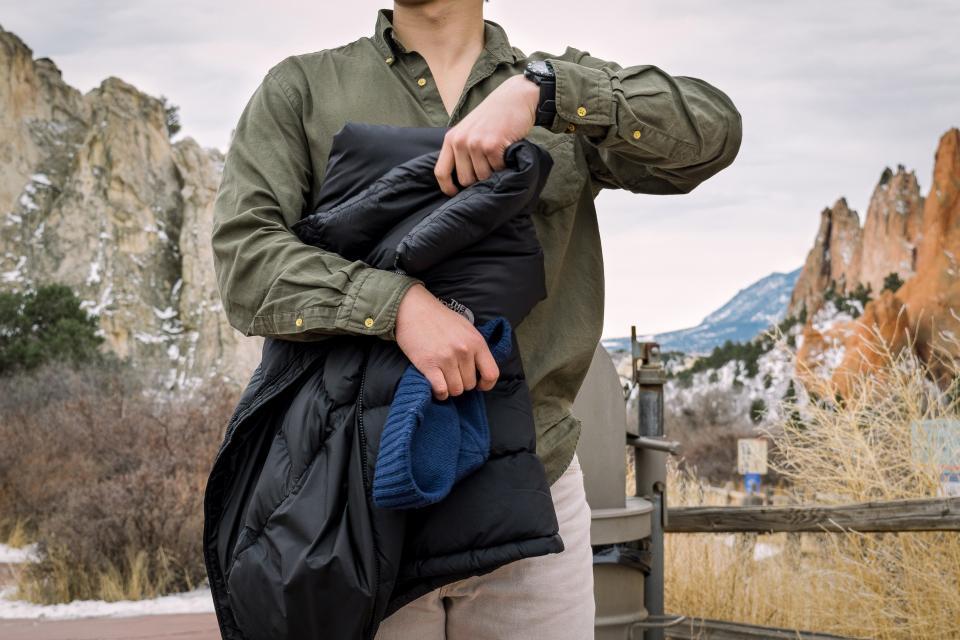 guy, man, jacket, coat, outdoors, mountains