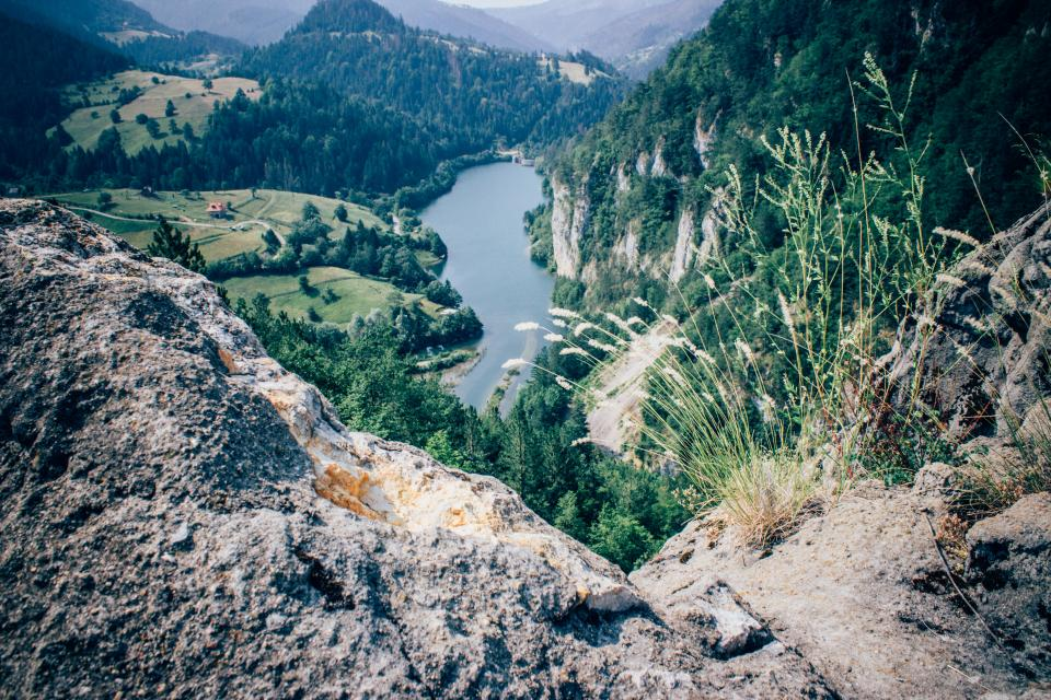 landscape, mountains, hills, valleys, fields, grass, rocks, cliffs, river, lake, water, trees, hiking, trekking, adventure, nature